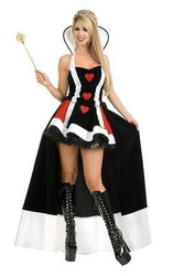 QUEEN OF HEARTS alice wonderland adult womens sexy halloween costume SMALL
