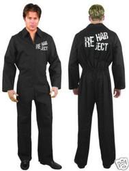 REHAB REJECT Prisoner JUMPSUIT funny mens costume L