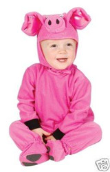 LITTLE PIG toddler kids boys barn animal pink halloween costume 2T 4T