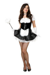 Fi Fi French Maid  FREE petticoat sexy adult womens halloween costume L