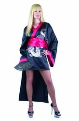 black GEISHA KIMONO sexy adult halloween costume S