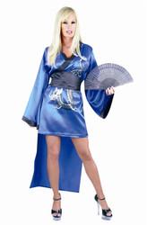 blue GEISHA KIMONO sexy adult halloween costume S