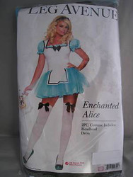 ALICE IN WONDERLAND mini dress sexy adult womens halloween costume S M