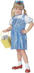 SEQUIN DOROTHY Wizard Oz cute girls kids halloween costume toddler 2T-4T