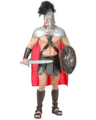 SPARTACUS HELMET AND CAPE set gladiator Roman soldier  mens halloween costume XL