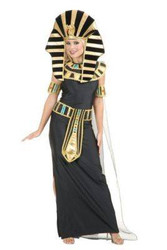 NEFERTITI cleopatra womens adult ancient egypt sphinx sexy halloween costume XS