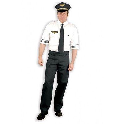 MILE HIGH CAPTAIN pilot flight airplane funny mens halloween costume adult LARGE  sc 1 st  CostumeVille & MILE HIGH CAPTAIN pilot flight airplane funny mens halloween costume ...