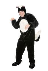 SKUNK funny pepe le pew mens adult animal unisex jumpsuit halloween costume  XL