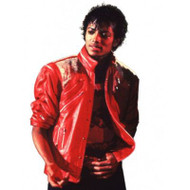 BEAT IT JACKET Michael Jackson 80s red faux leather mens halloween costume LARGE