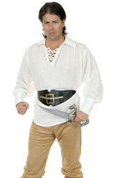 PIRATE SHIRT gauze buccaneer renaissance adult unisex halloween costume XL