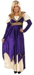 MAIDEN OF VERONA juliet renaissance purple gown halloween costume adult XL