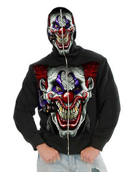 EVIL CLOWN jacket hoodie mask scary juggalo mens adult halloween costume MEDIUM
