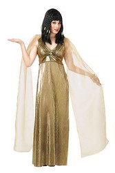 EMPRESS OF THE NILE gold egyptian queen cleopatra nefertiti halloween costume L