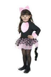 MISS KITTY pink cat girls toddler pink tutu dress childs halloween costume 2T-4T