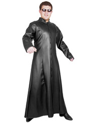 MATRIX TRENCH COAT street fighter neo adult mens cyber goth halloween costume XL