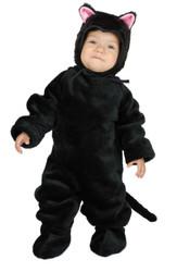LITTLE BLACK CAT kitty animal kids boys girls toddler halloween costume 2T - 4T