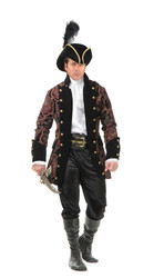 Royal pirate rogue costume mens medium