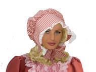 Red Checkered Prairie Hat kids girls Costume Bonnet