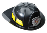 Black Helmet Fireman Adult Costume Accessory