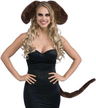 Big Brown Dog Ears and Tail Costume Kit