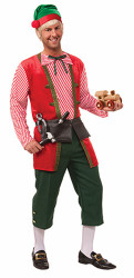 Toy Maker Elf Costume Mens