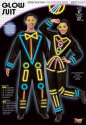 Stick Man Glow Suit Adult Costume One Size