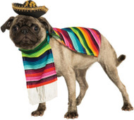 Mexican Serape Pet Costume Dress Your Pet Amigo Dog Halloween