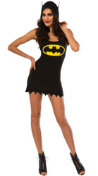 Batgirl Hooded Tank Dress Adult Costume