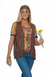 Womens Fringe Hippe Vest Costume
