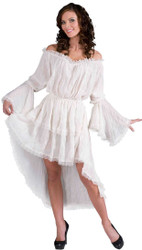 Medieval Lace Chemise Womens Costume