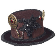 Mini Steampunk Facisnator Top Hat with Gears
