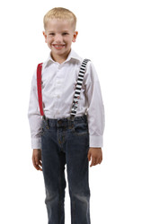Dr. Seuss Cat in the Hat Mismatched Suspenders