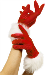 Miss Santa Claus Gloves by Smiffy's