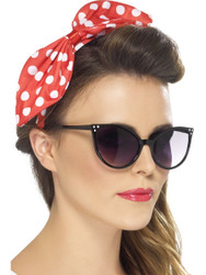 Polka Dot Pin Up Bow on Headband