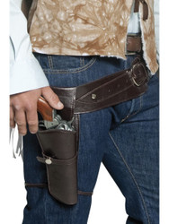 Western Wandering Gunman Belt & Holster Costume Accessory