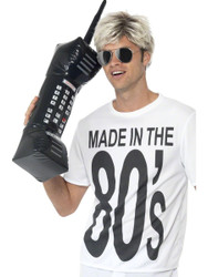 INFLATABLE RETRO MOBILE PHONE cell 80s zach morris saved by the bell costume by Smiffy's
