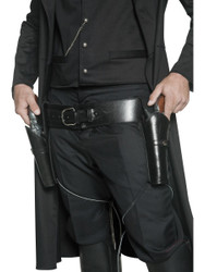 Western 2 Holsters and Black Belt Costume Accessory