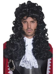 Pirate Captain Wig Black Long and Curly