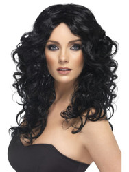 Cher Glamour Wig Black Long Curly by Smiffy's