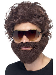 Stag Do Kit Brown with Wig Beard and Sunglasses