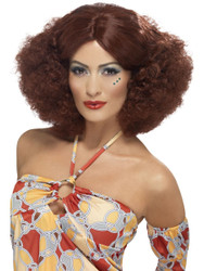 Auburn 70's Afro Wig with Middle Part