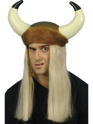 Viking Helmet with Blonde Hair Costume Accessory