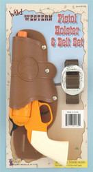 Western Sheriff Single Holster Belt with Gun Toy (Can't sell to NY or CA)