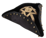 PIRATE TRICORN HAT Blackbeard Disney carribean sparrow mens costume accessory