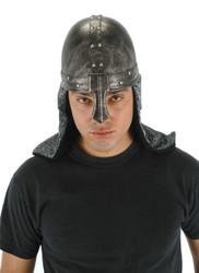 BLACK KNIGHT HELMET hat medieval warrior viking renaissance costume halloween