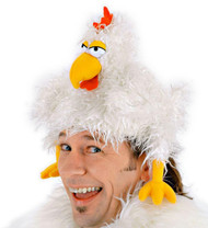 CLUCKER CHICKEN HAT funny costume chick hen rooster adult kids halloween costume