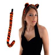 TIGER EARS TAIL set adult kids halloween costume