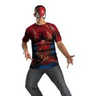 Spiderman T-shirt Mask Mens Adult Halloween Costume XL