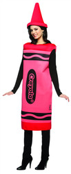 RED CRAYON crayola color womens adult mascot teacher funny halloween costume S/M