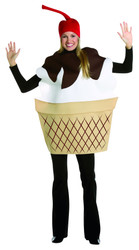 ICE CREAM SUNDAE mens womens adult funny dessert food halloween costume